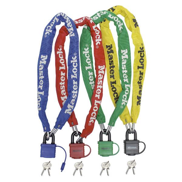 Antifurt Master Lock lant cu lacat si cheie 900 x 6mm - diverse culori imagine