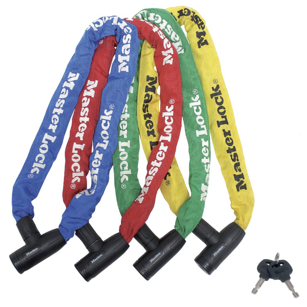 Antifurt Master Lock lant cu cheie 900 x 8mm - diverse culori imagine