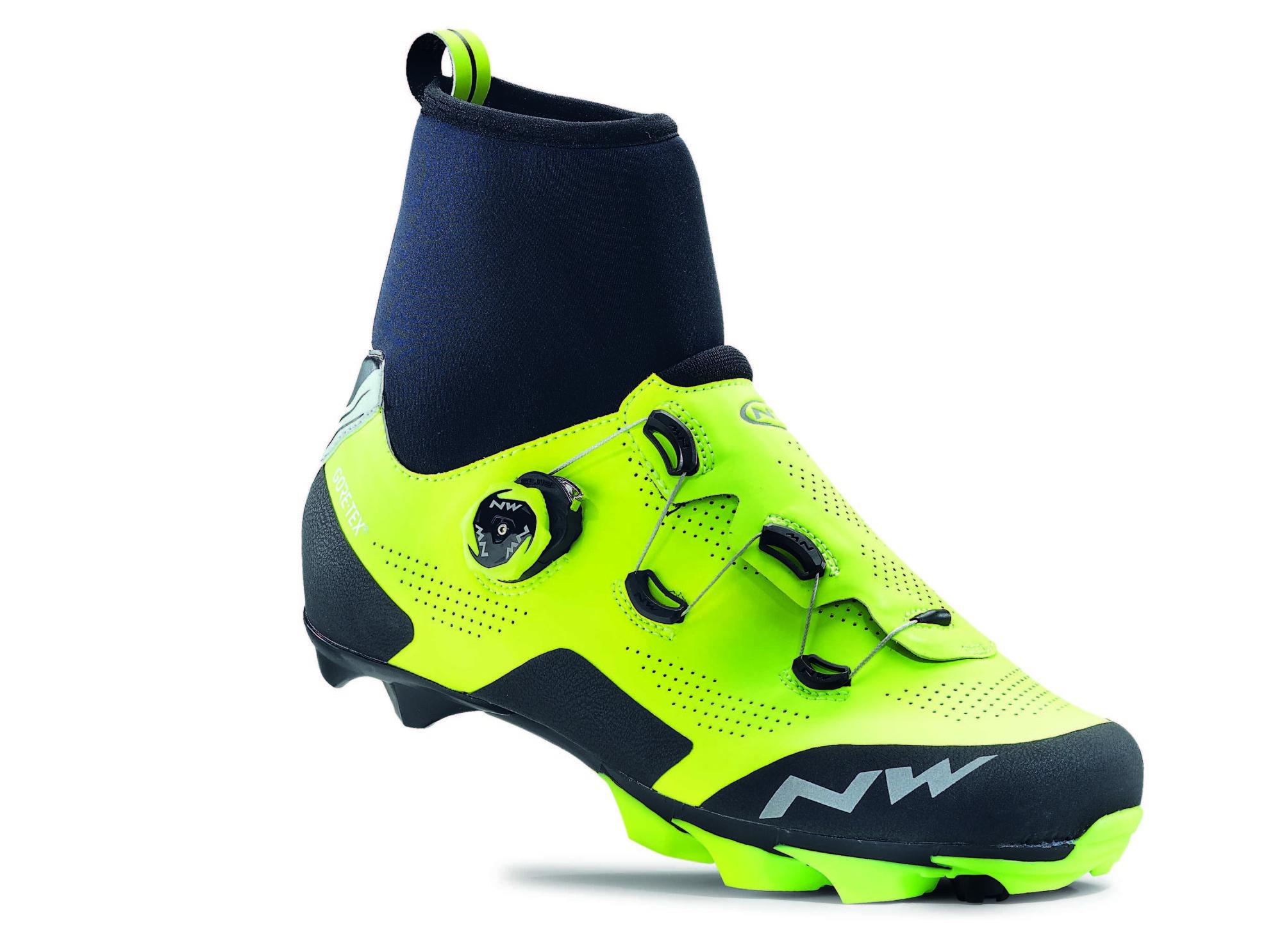 Imagine Pantofi Ciclism Mtb Northwave Raptor Gtx Galben Fluorescent