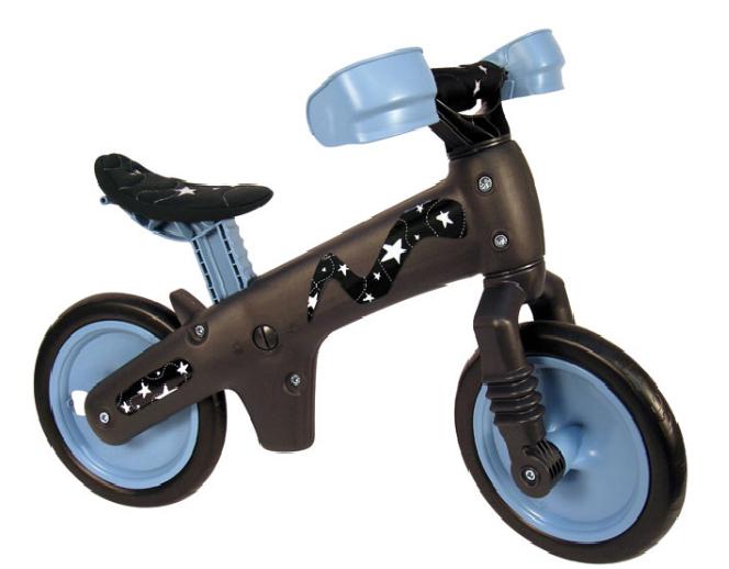 Bicicleta pentru copii fara pedale Bellelli B-Bip Gri/Albastru Bellelli