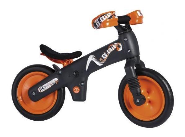 Bicicleta pentru copii fara pedale Bellelli B-Bip Gri/Portocaliu imagine