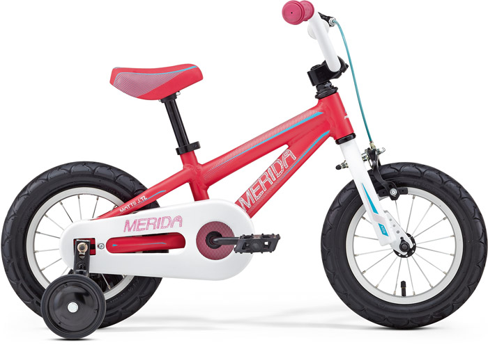 Bicicleta cu roti ajutatoare Merida Matts J12 Roz/Albastru 2016 - Model Buy Back Merida
