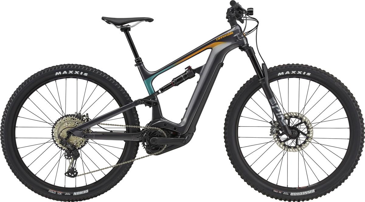 Bicicleta electrica Cannondale Habit Neo 1 Gri/Turcoaz/Portocaliu 2021 Cannondale