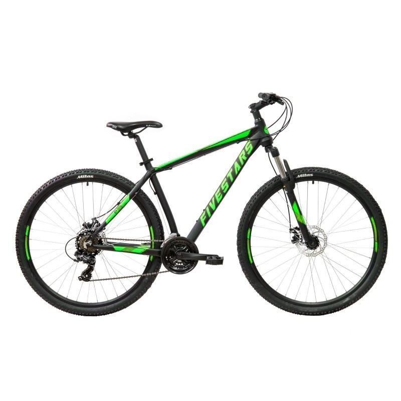 Bicicleta Fivestars Rocky 29 MDB Negru/Verde 2021 imagine
