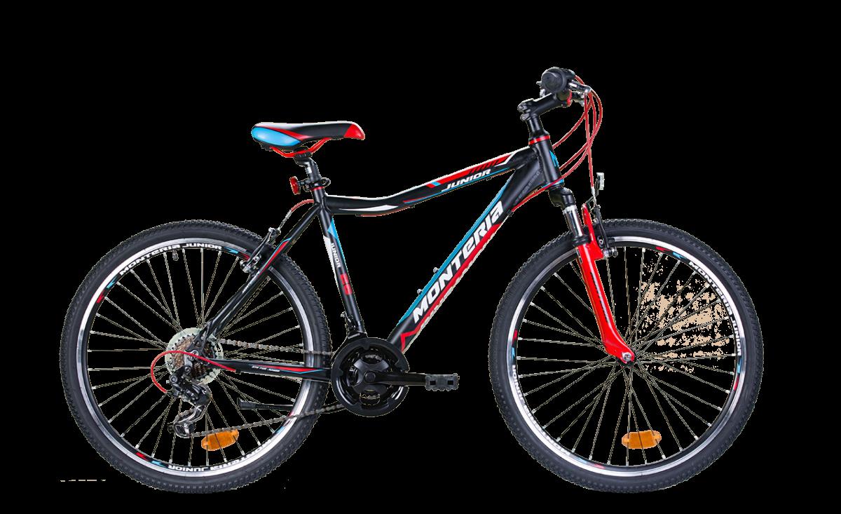 Bicicleta pentru copii Romet Monteria JUNIOR 26 Negru//Rosu/Albastru imagine