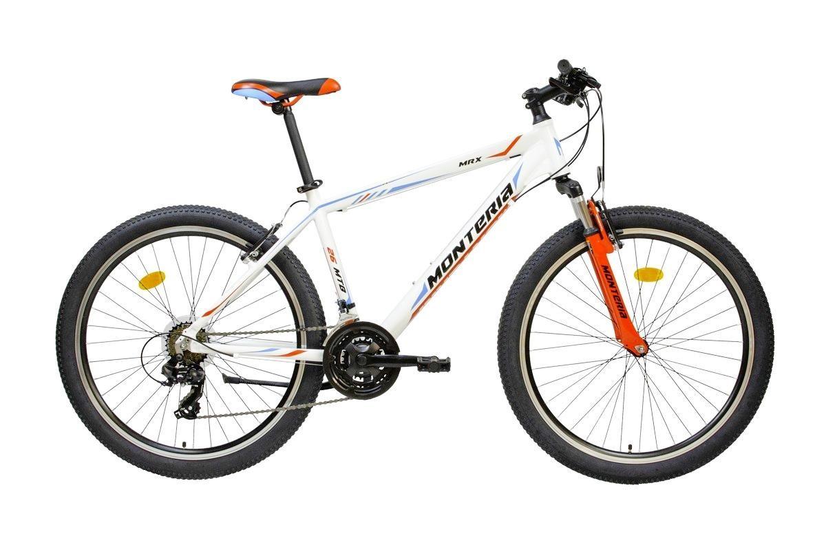 Bicicleta de munte Romet Monteria MRX Alb/Albastru/Rosu imagine