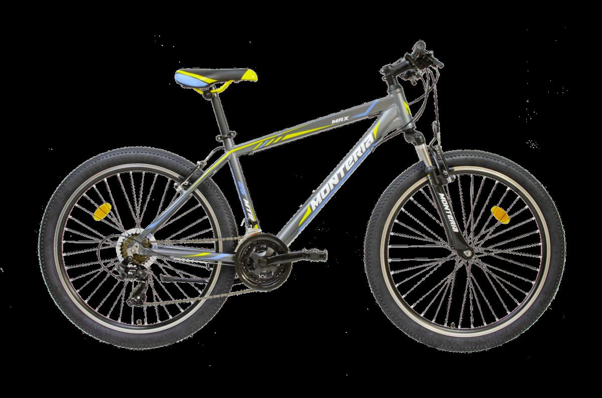 Bicicleta de munte Romet Monteria MRX Gri/Galben/Albastru imagine