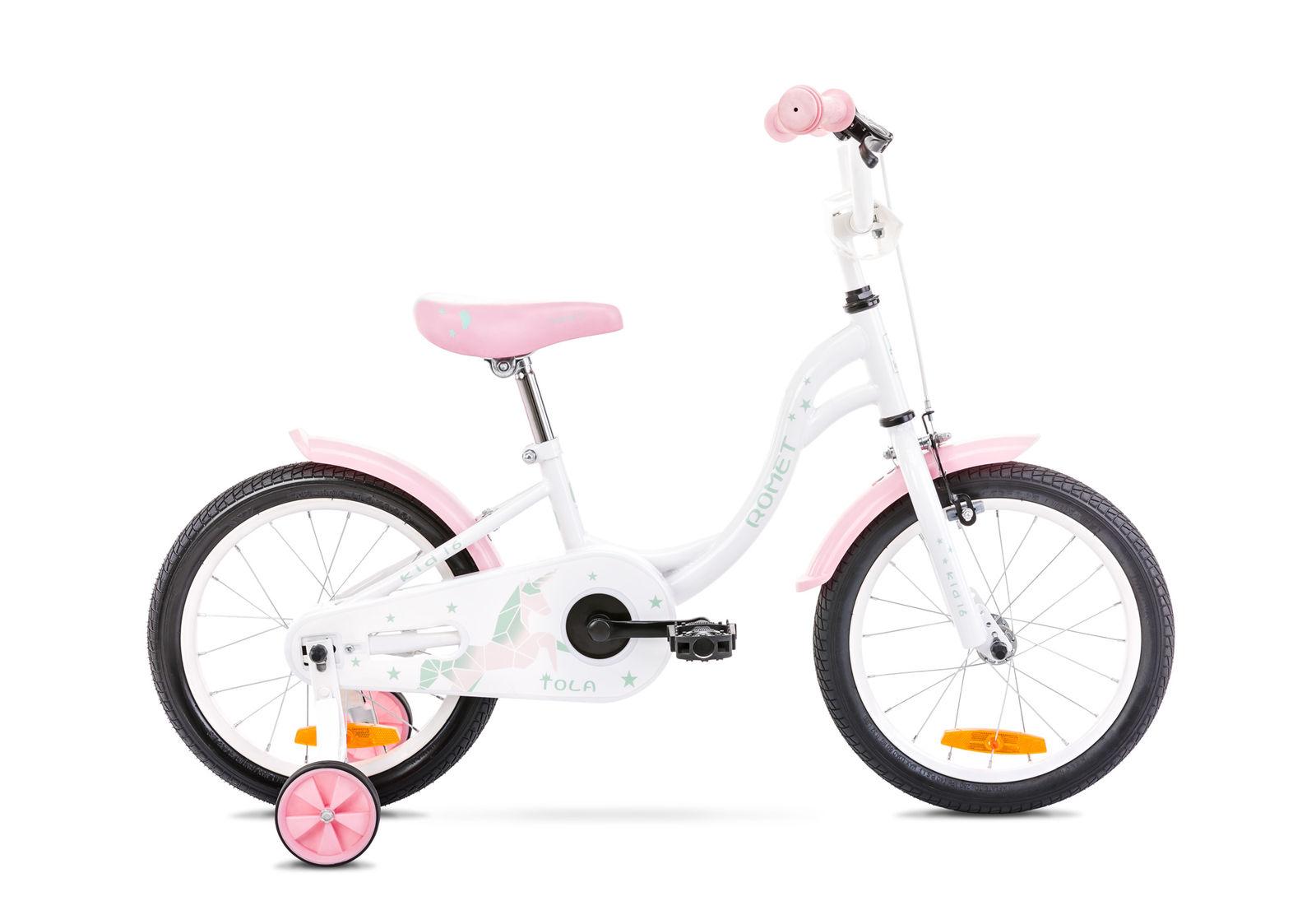 Bicicleta pentru copii Romet Tola 16 S/9 Alb/Turcoaz 2021 imagine