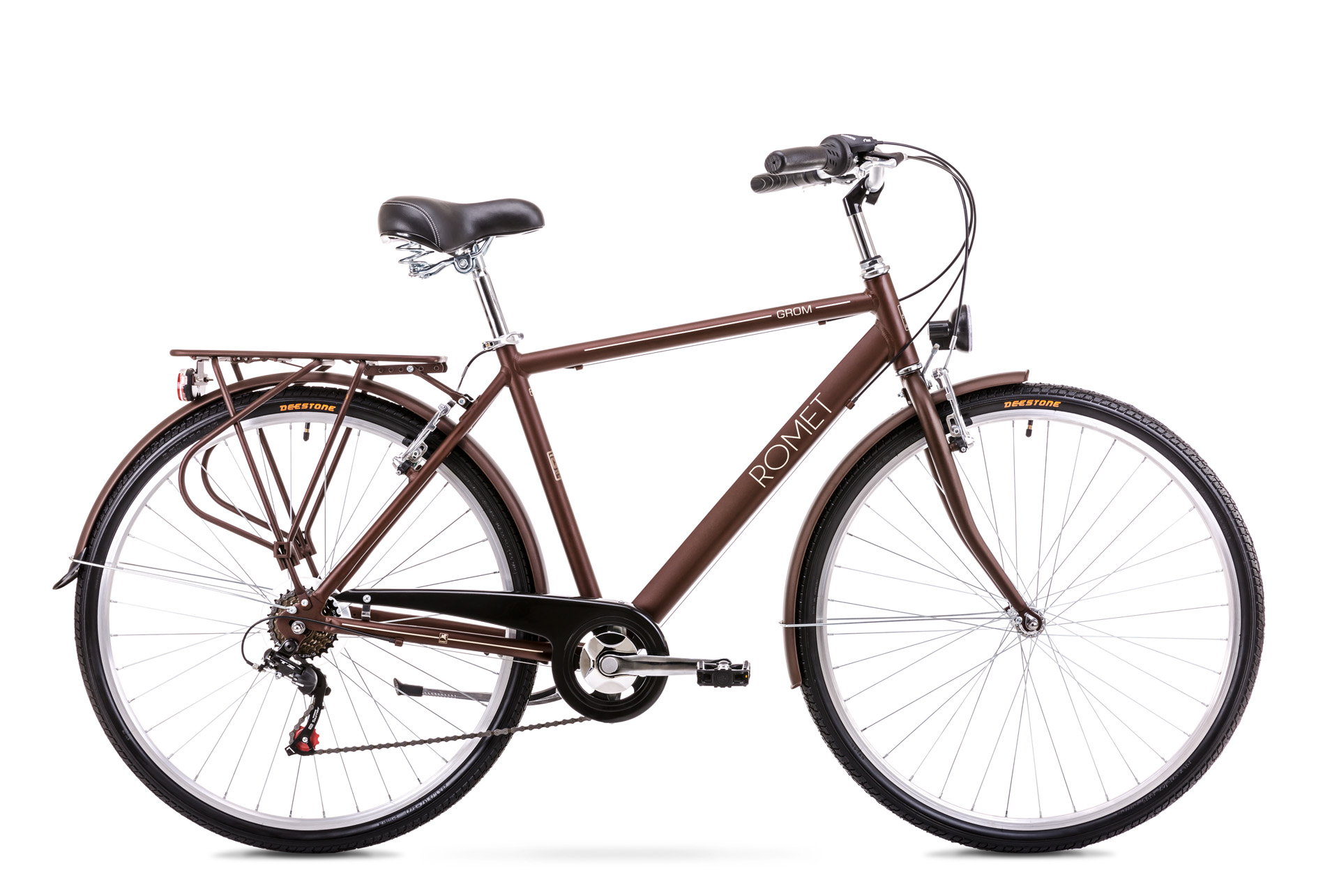 Bicicleta de oras pentru Barbati Romet Grom 6S Maro 2019 imagine