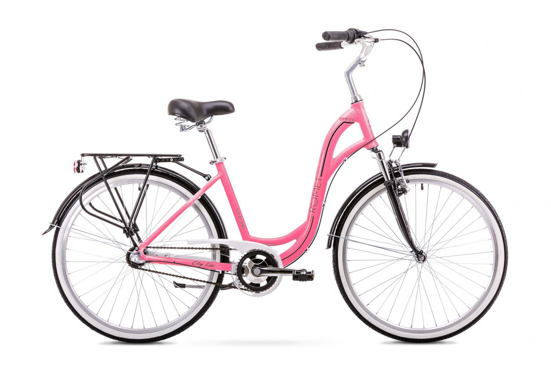 Bicicleta de oras pentru Femei Romet Symfonia 2.0 Roz/Negru 2019 imagine