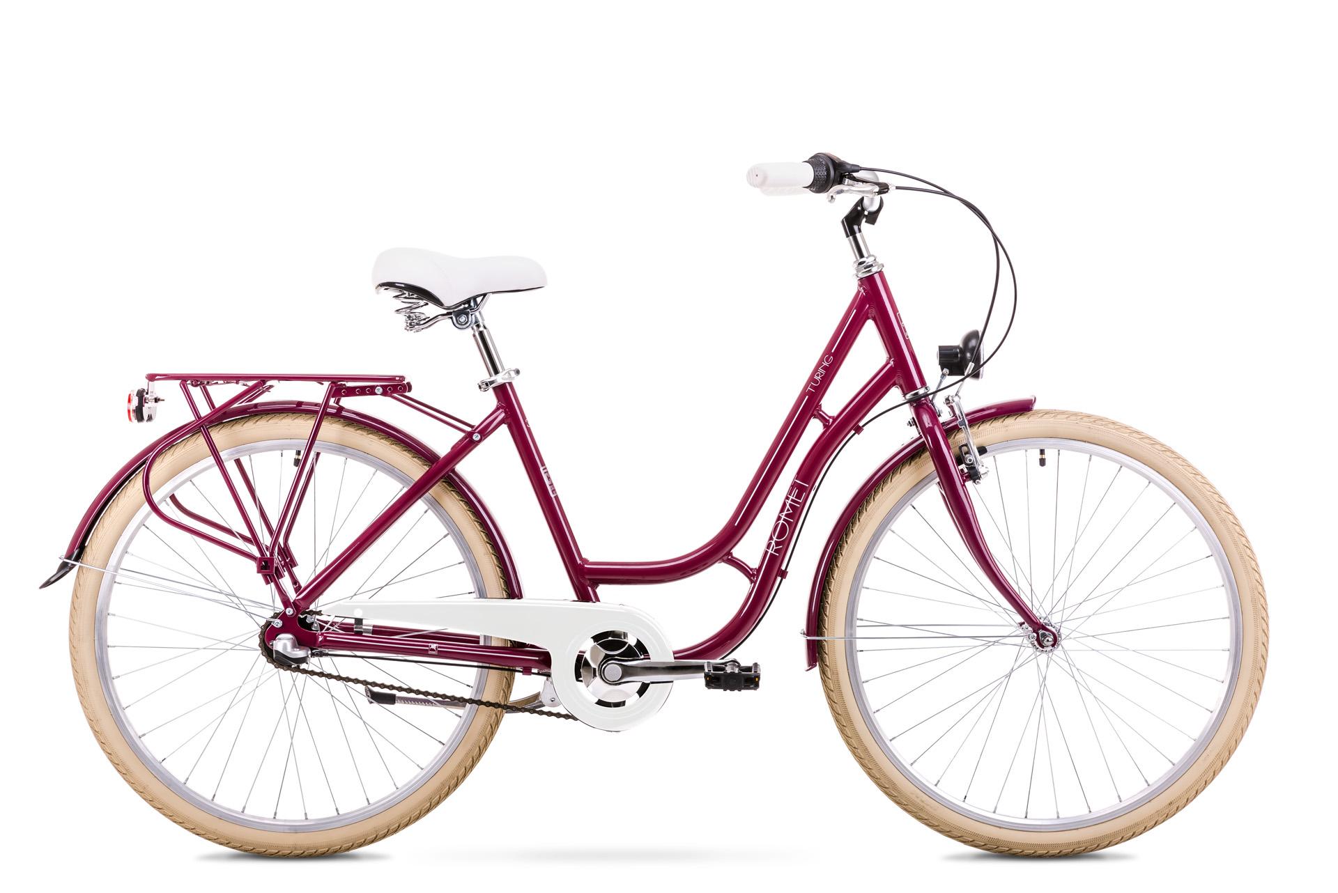 Bicicleta de oras pentru Femei Romet Turing 3S Visiniu 2019 imagine
