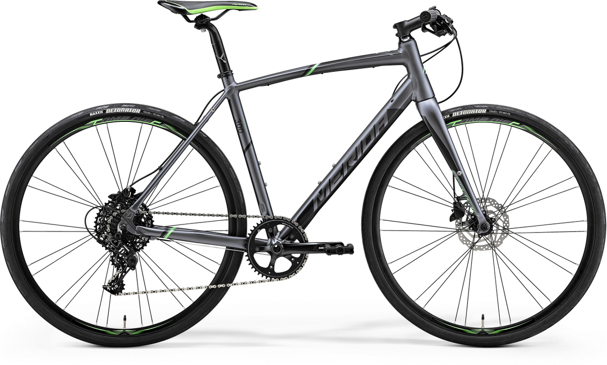Bicicleta de sosea pentru barbati Merida Speeder 300 Silk Antracit (Verde/Negru) 2019 Merida