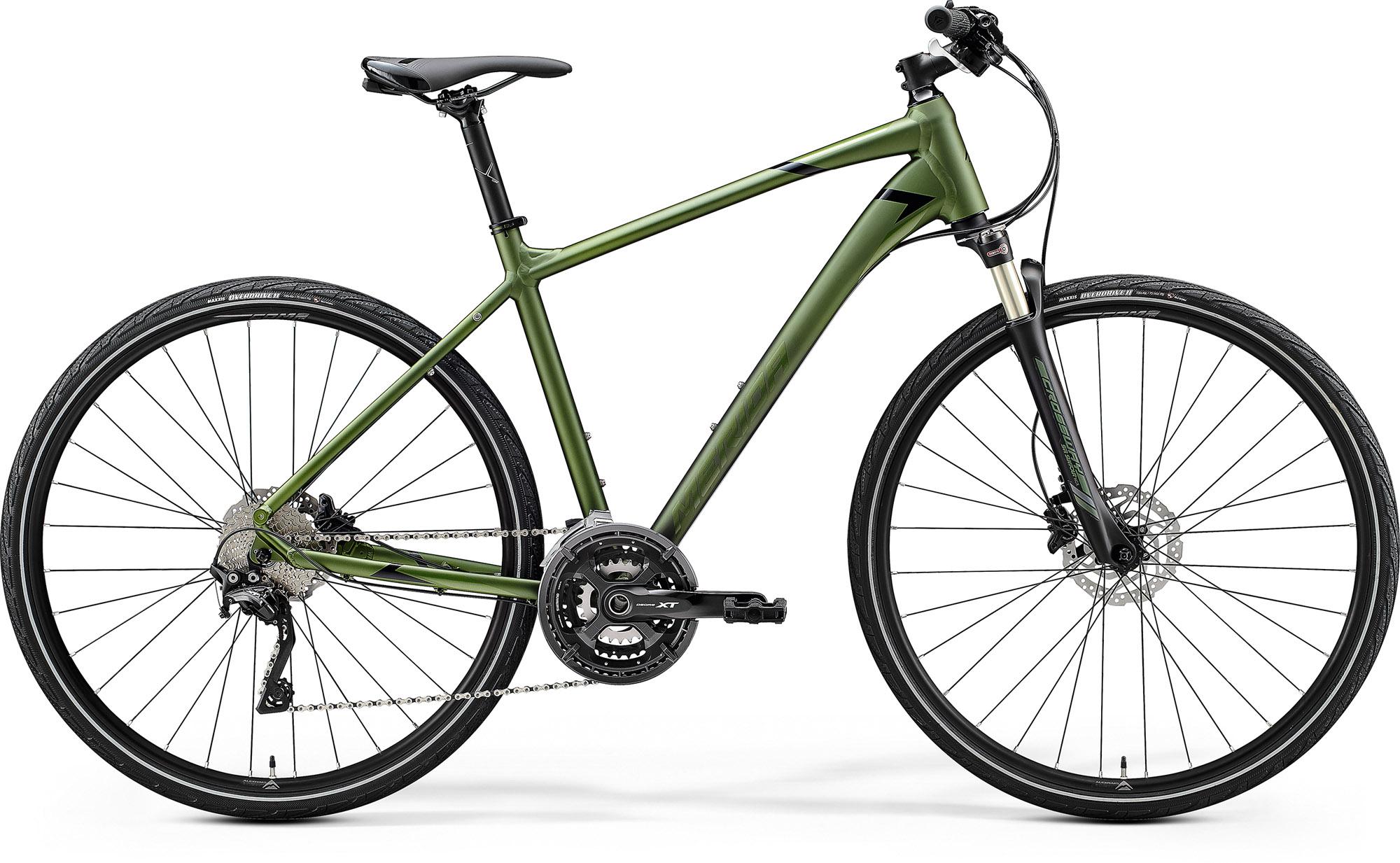 Bicicleta de trekking pentru Barbati Merida Crossway XT-Edition Mat Verde Inchis (Negru) 2020 imagine