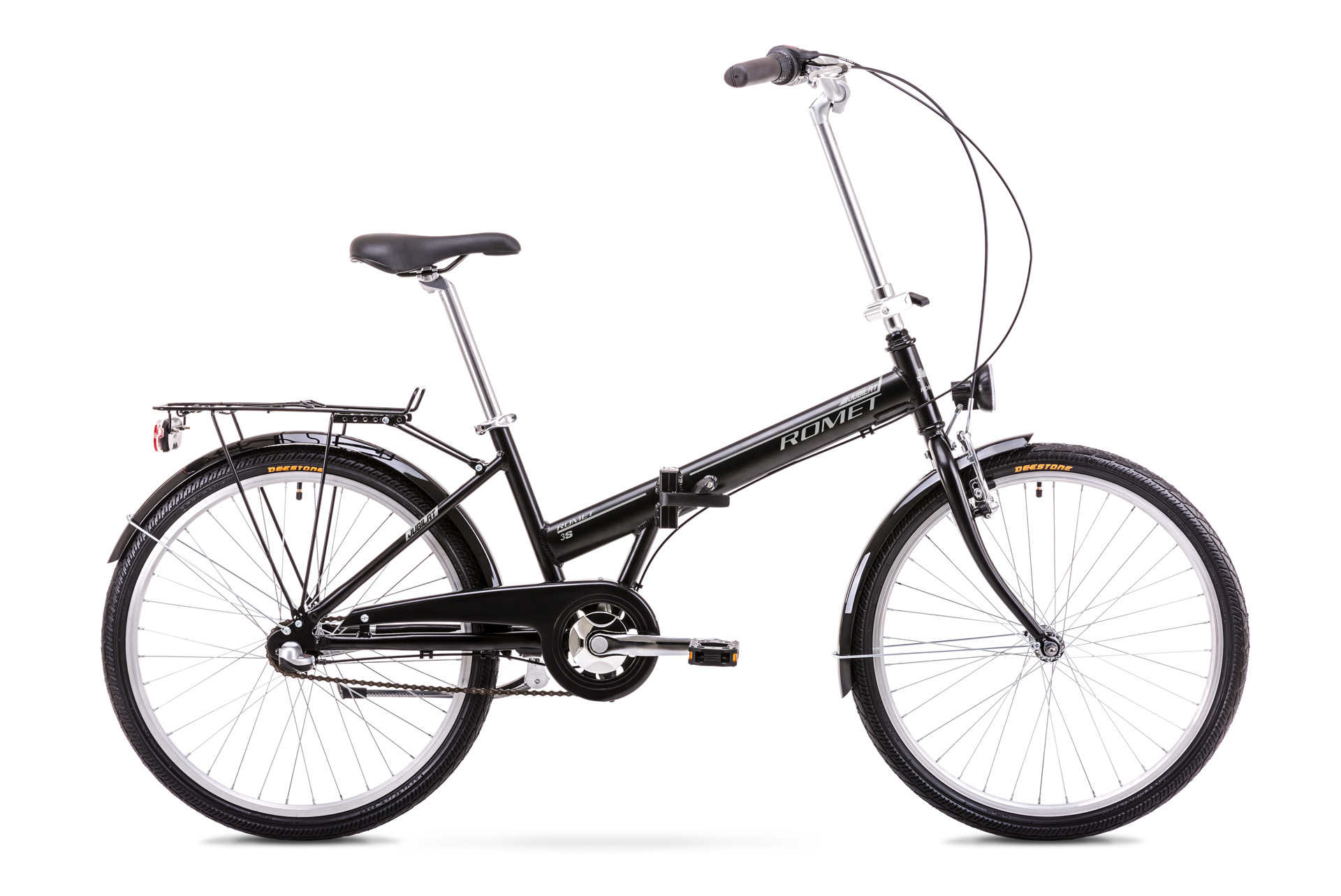 Bicicleta pliabila Unisex Romet Jubilat 3 Negru/Gri 2019 imagine
