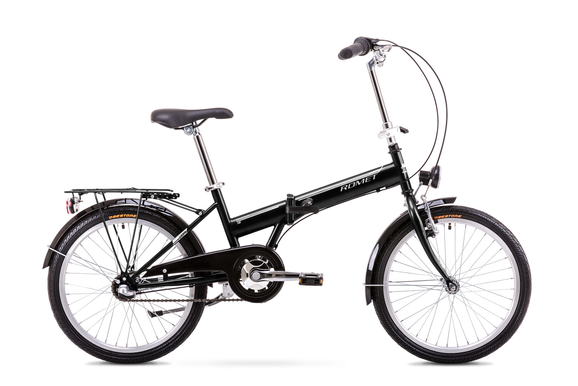 Bicicleta pliabila Unisex Romet Wigry 2 Negru/Alb 2019 imagine