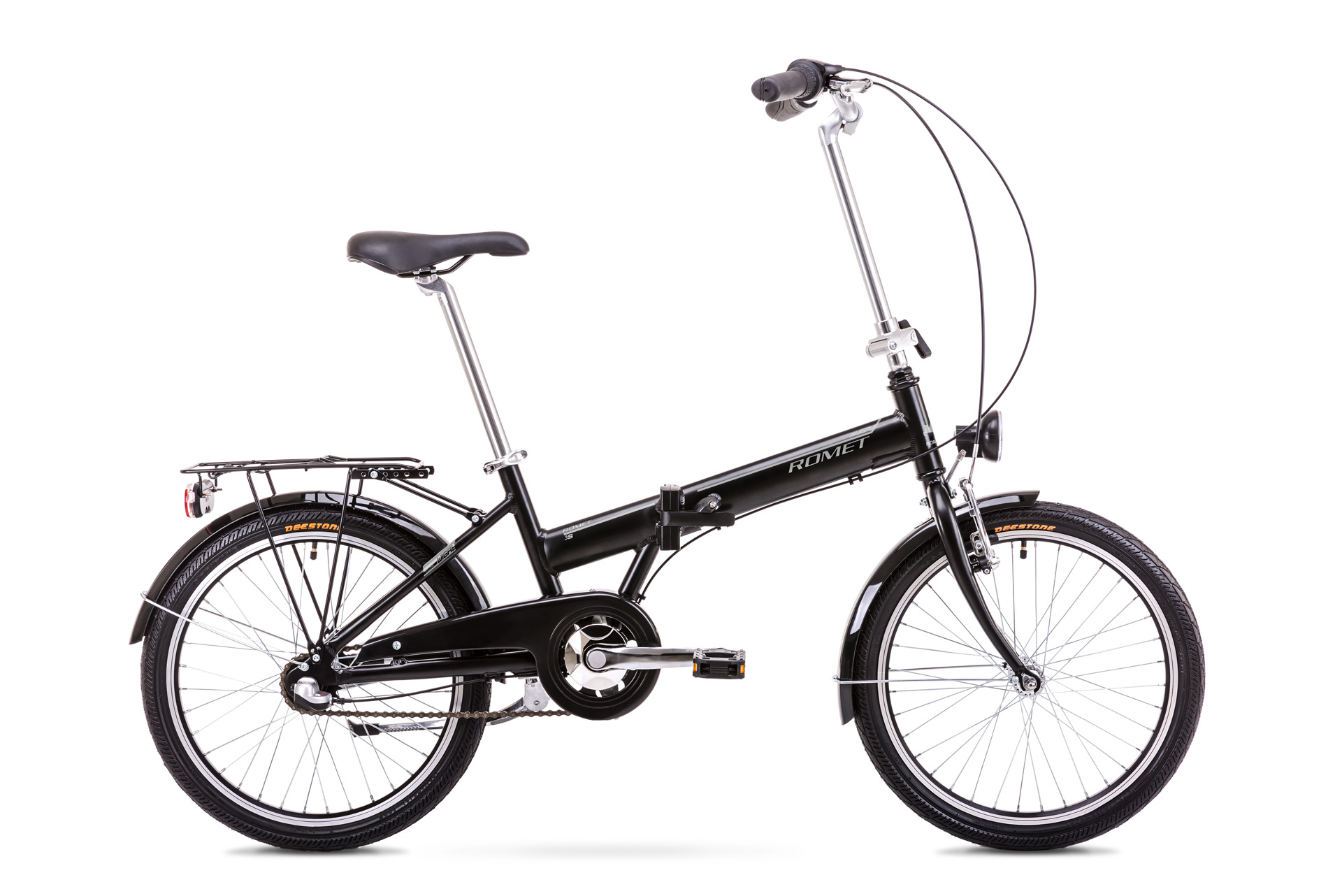 Bicicleta pliabila Unisex Romet Wigry 3 Negru/Argintiu 2019 imagine