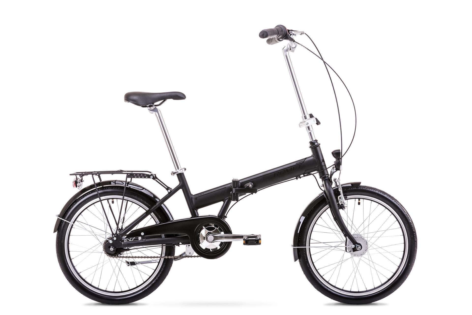 Bicicleta pliabila Unisex Romet Wigry 4 Negru/Gri 2019 imagine