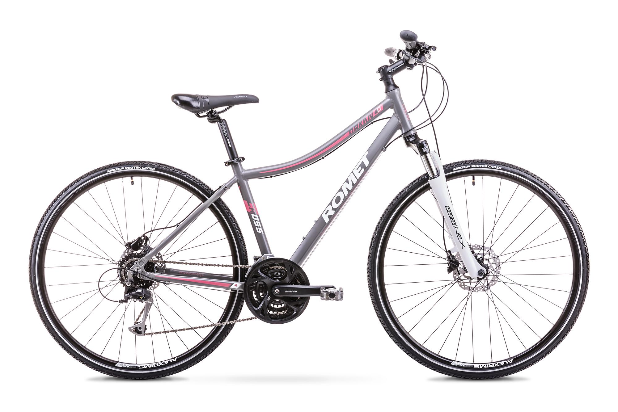 Bicicleta de trekking/oras pentru Femei Romet ORKAN 4 D Gri 2018 Romet