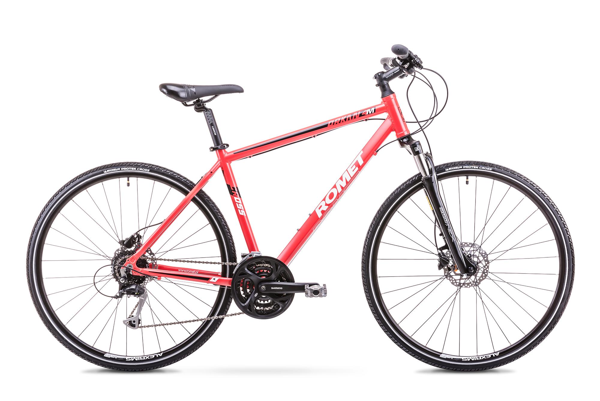 Bicicleta de trekking/oras pentru Barbati Romet ORKAN 4 M Rosu 2018 imagine