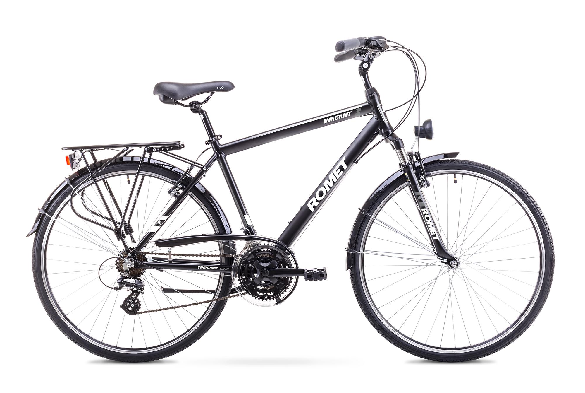 Bicicleta de trekking/oras pentru Barbati Romet WAGANT 1 LIMITED Negru/Alb 2018 Romet