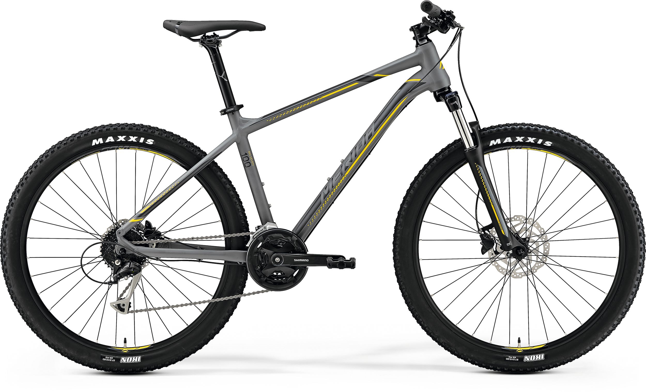 Bicicleta de munte pentru barbati Merida Big.Seven 100 Gri(Galben) 2019 imagine