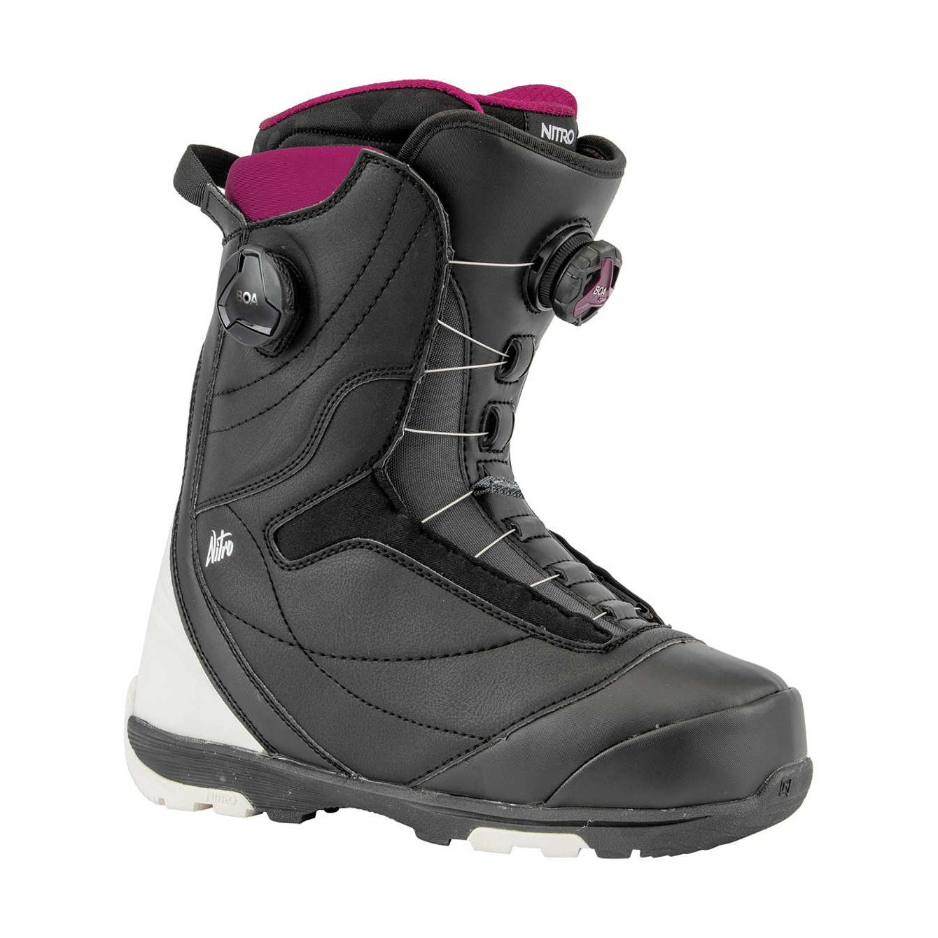 Boots snowboard femei Nitro Cypress Dual BOA Negru/Alb 19/20 imagine