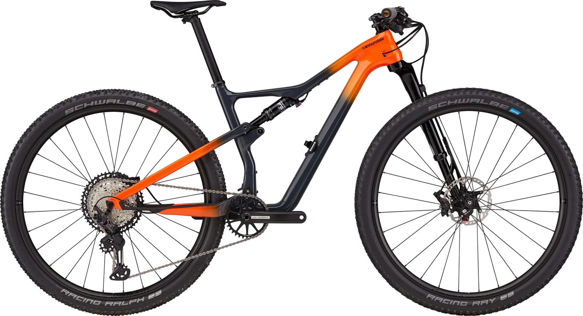 Bicicleta de munte full-suspension Cannondale Scalpel Carbon 2 Negru/Portocaliu 2021 imagine
