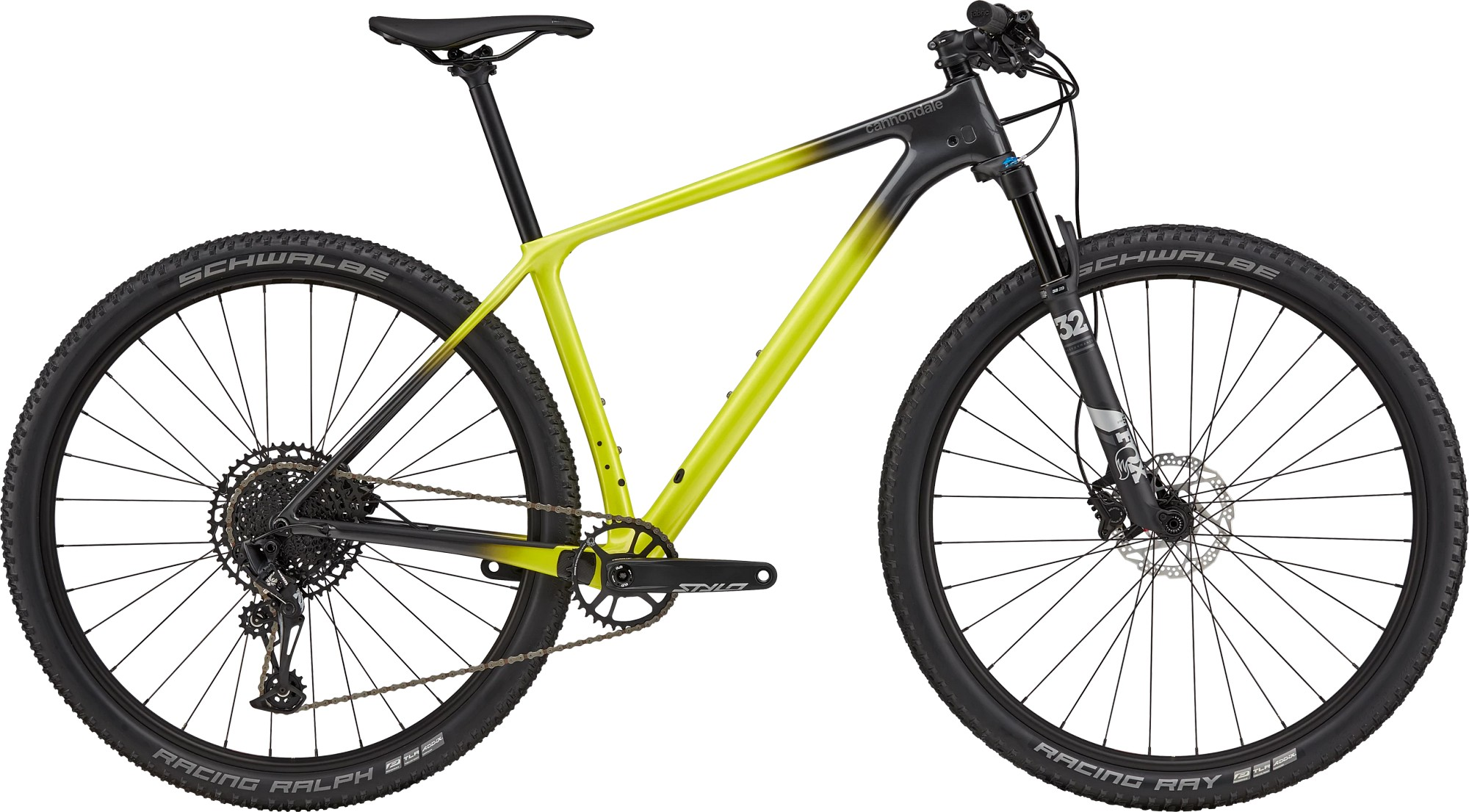 Bicicleta de munte hardtail Cannondale F-SI Carbon 5 Verde fosforescent 2021 imagine