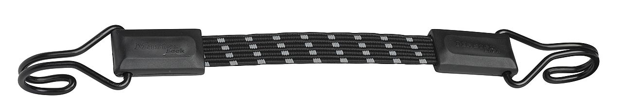 Coarda elastica plata reflectorizanta MasterLock cu carlig 30cm x 18mm imagine