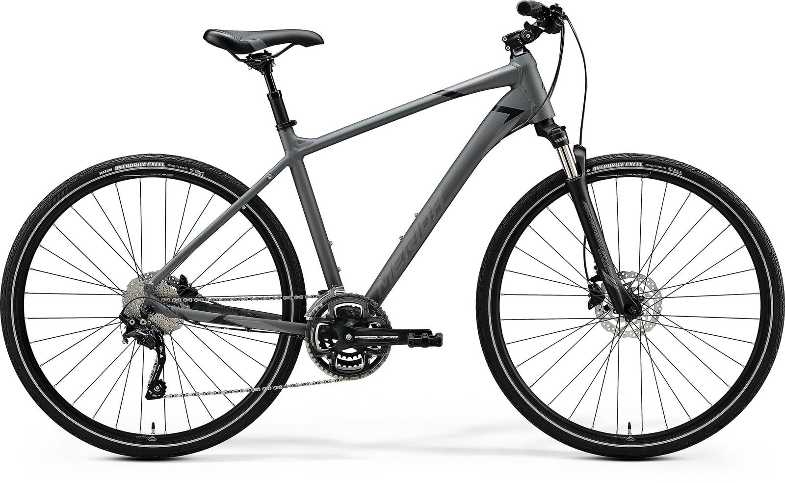 Bicicleta de trekking/oras barbati Merida Crossway 300 Gri/Negru 2020 imagine
