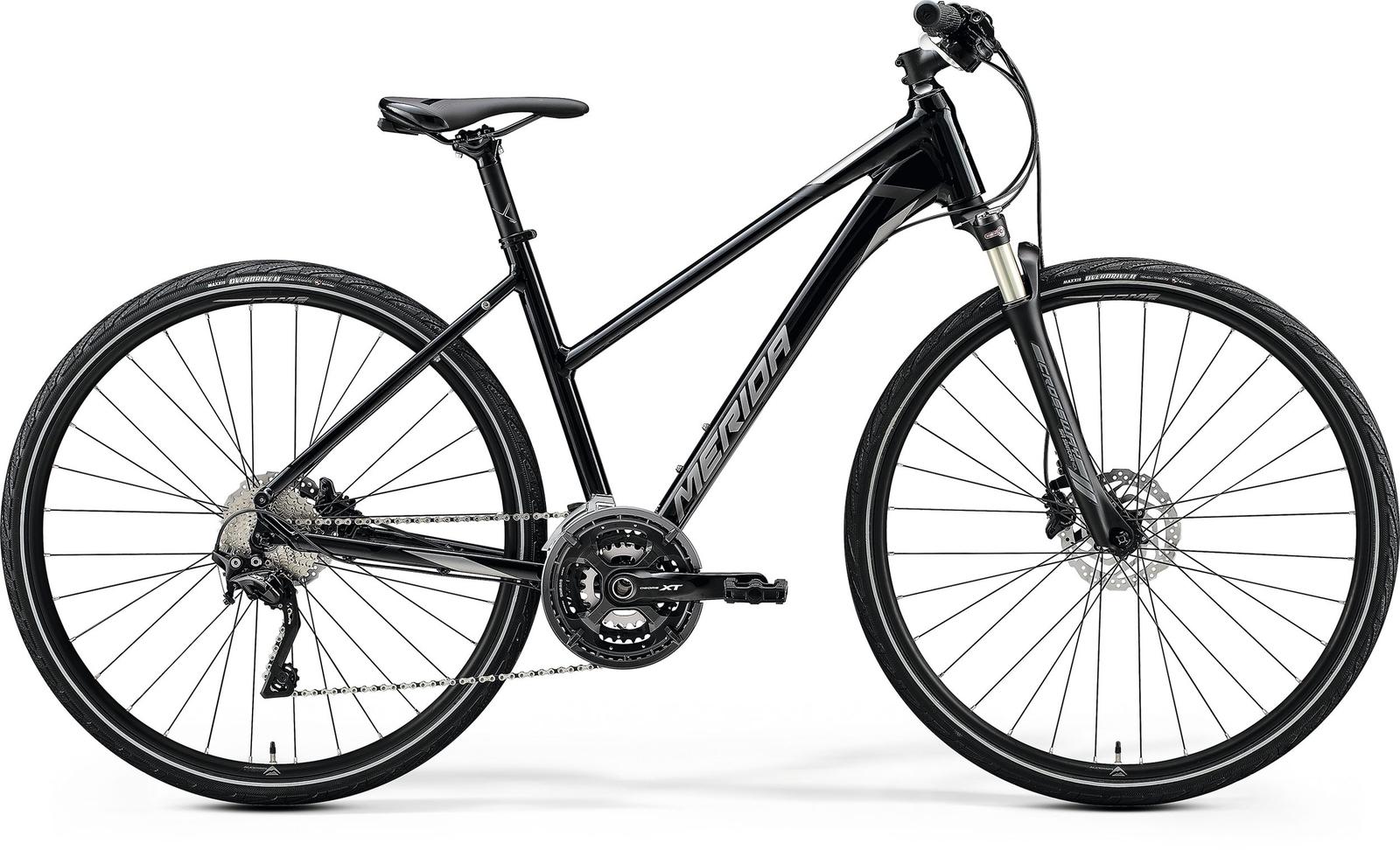 Bicicleta de trekking/oras femei Merida Crossway XT-Edition Negru/Argintiu 2020 imagine