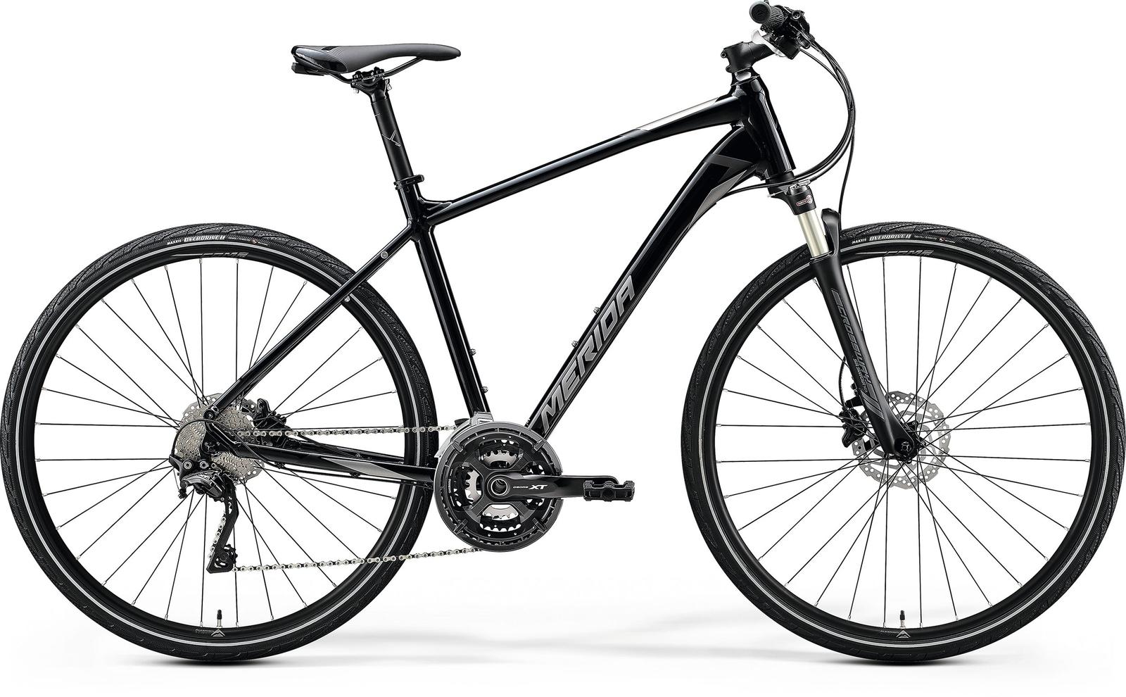 Bicicleta de trekking/oras barbati Merida Crossway XT-Edition Negru/Argintiu 2020 Merida