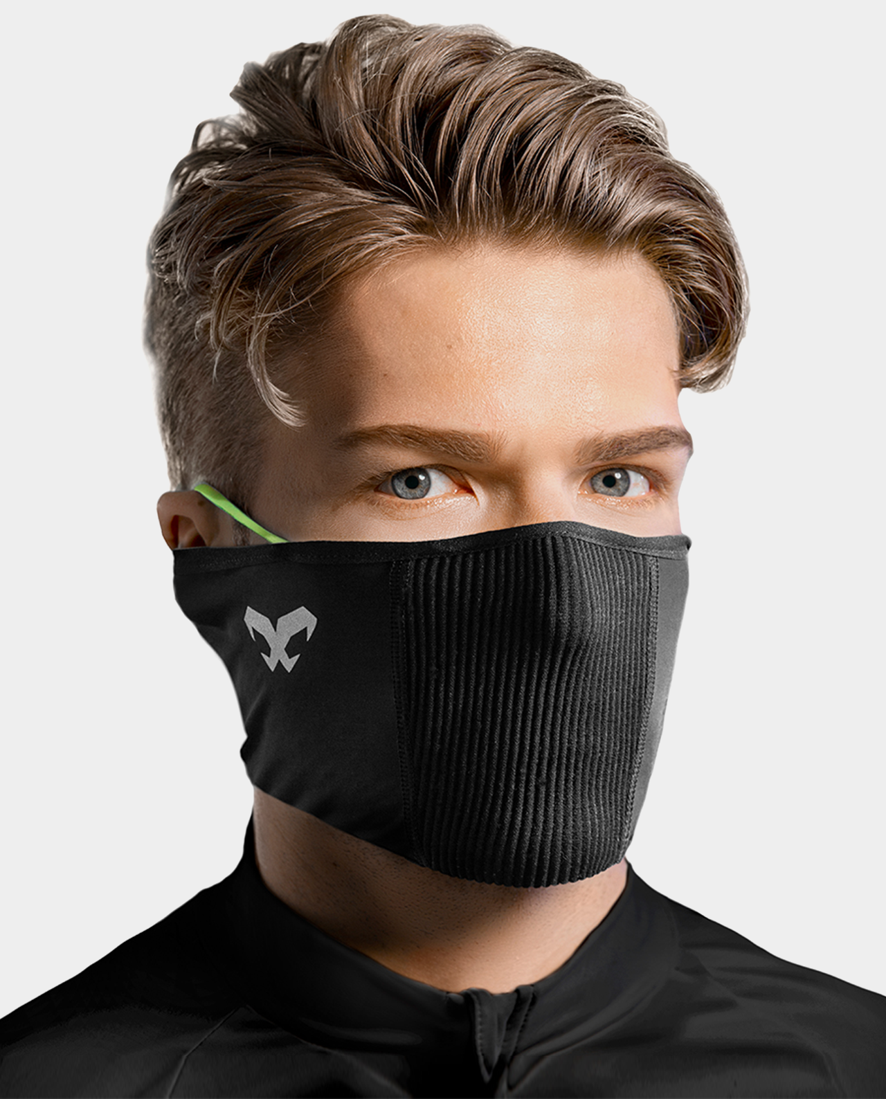 Masca pentru sportivi pentru vreme calda Naroo F1s cu filtrare particule Negru imagine