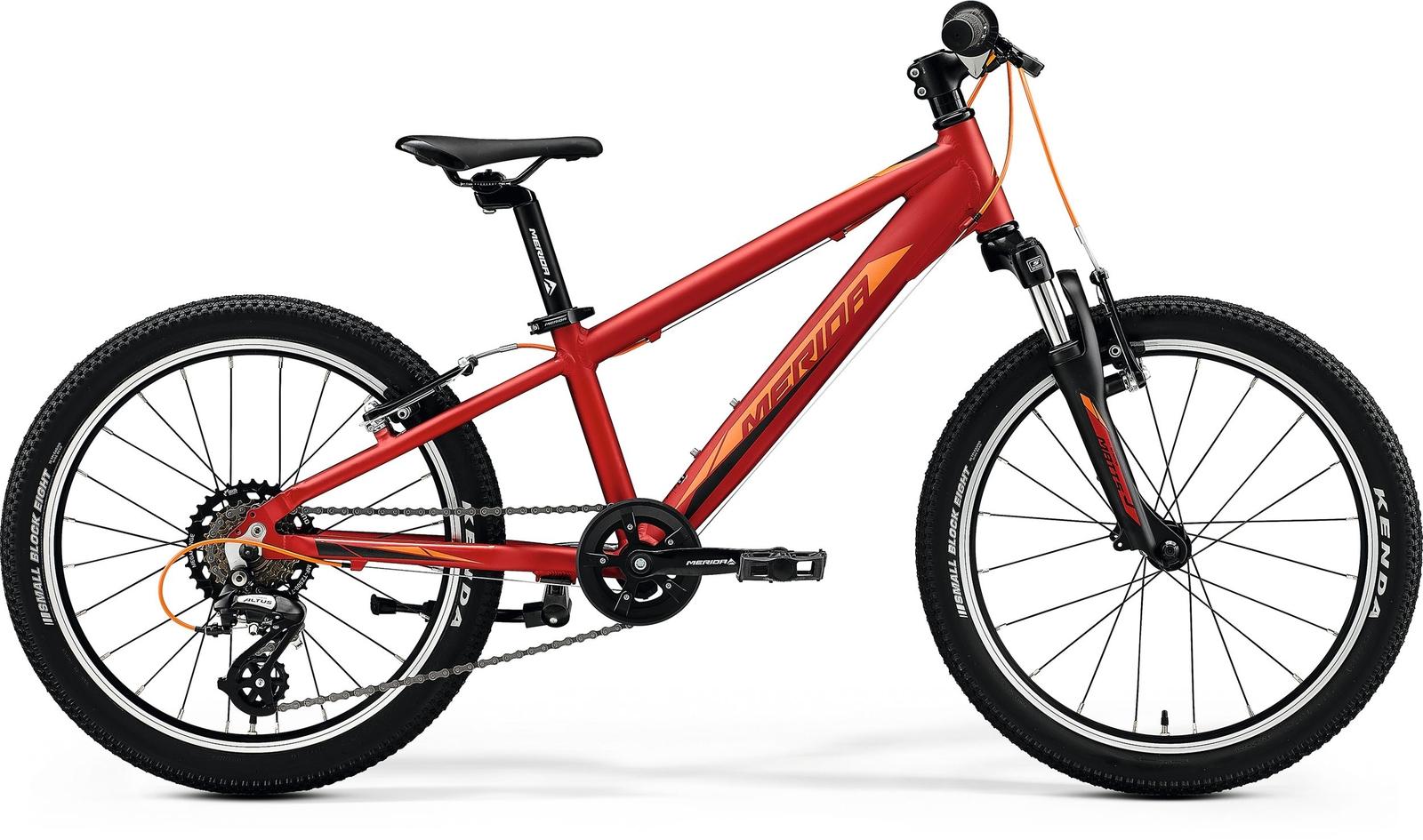 Bicicleta cu suspensie copii Merida Matts J.20 Rosu/Portocaliu 2020 imagine