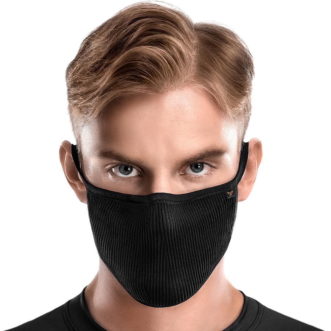 Masca antibacteriana pentru sportivi Naroo FU+ Copper cu filtrare particule Negru imagine