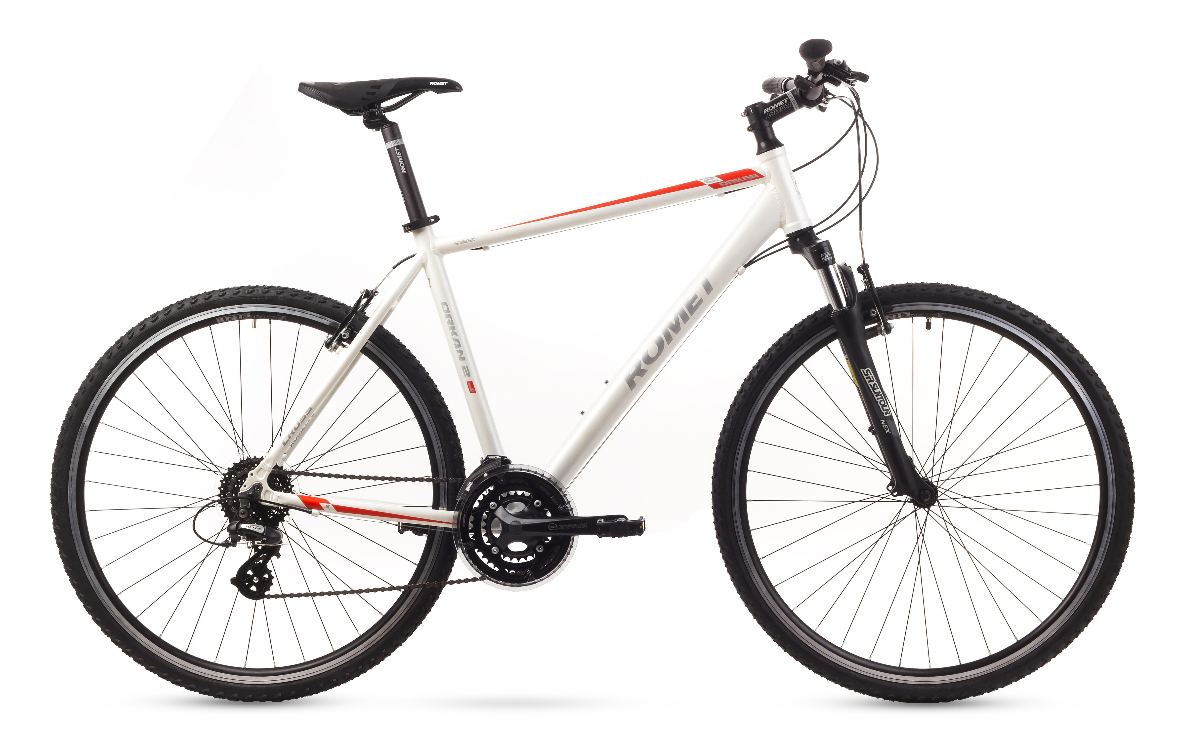 Bicicleta de trekking Romet ORKAN 2M Alb 2016 Romet