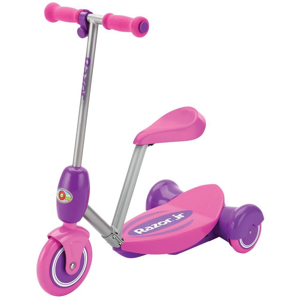 Trotineta electrica cu 3 roti pentru copii 3+ ani Razor Lil'E Roz imagine
