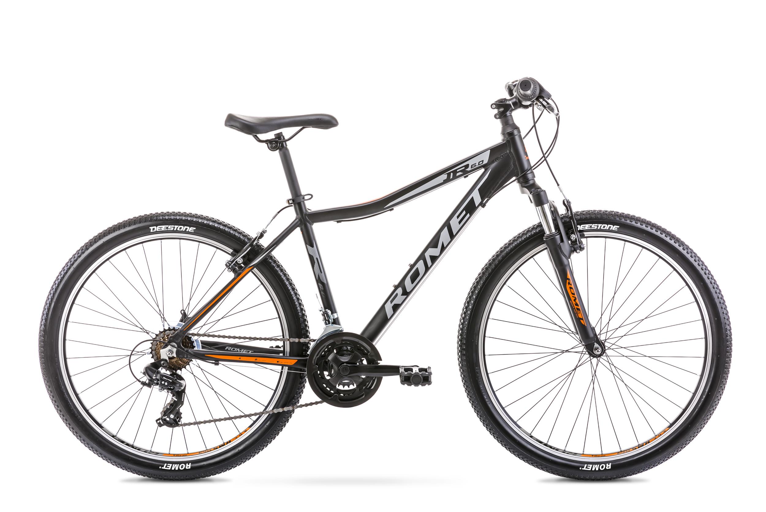 Bicicleta de munte pentru copii Romet Rambler R6.0 Jr Negru/Portocaliu 2020 imagine