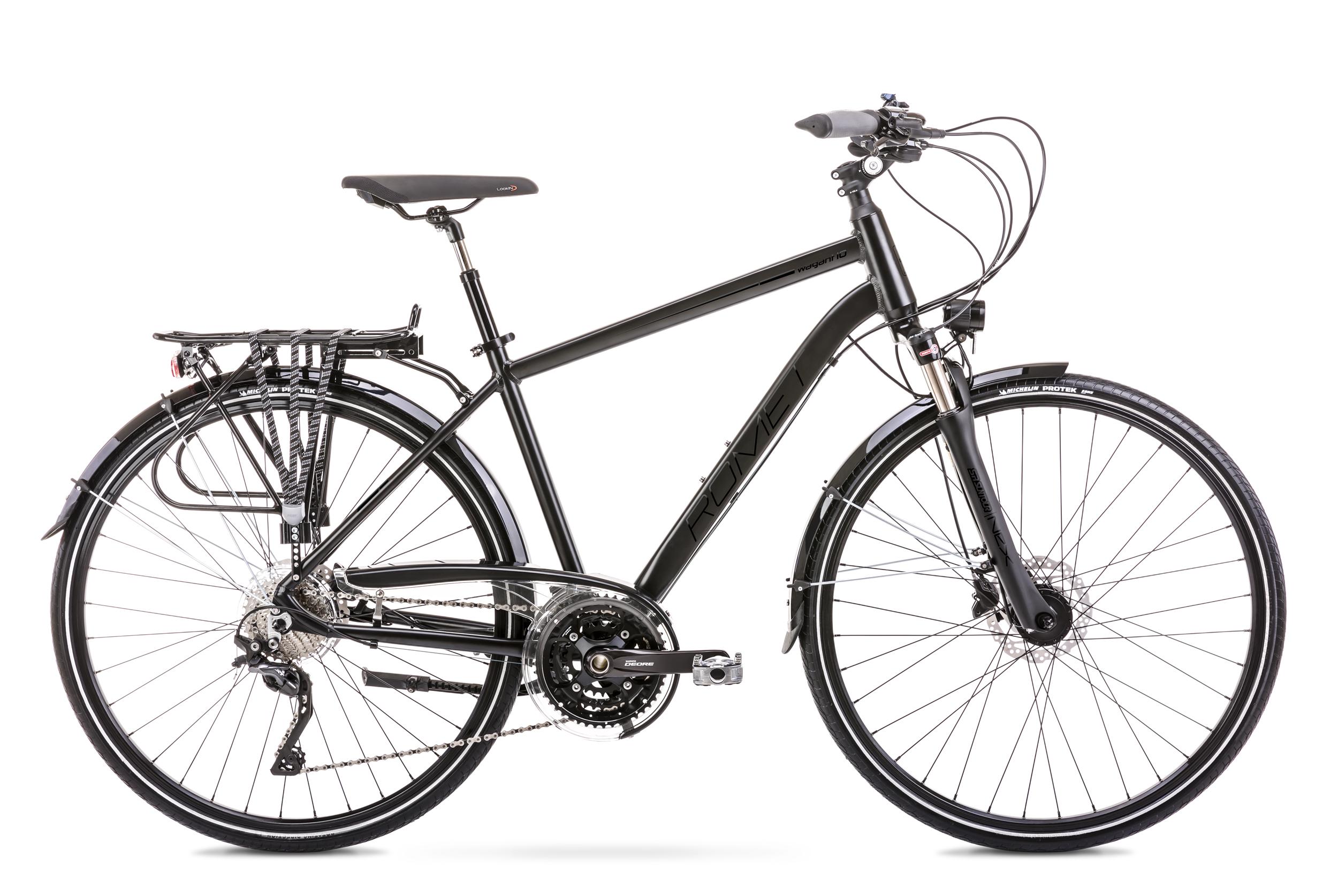 Bicicleta de trekking/oras pentru barbati Romet Wagant 10 Negru 2020 imagine