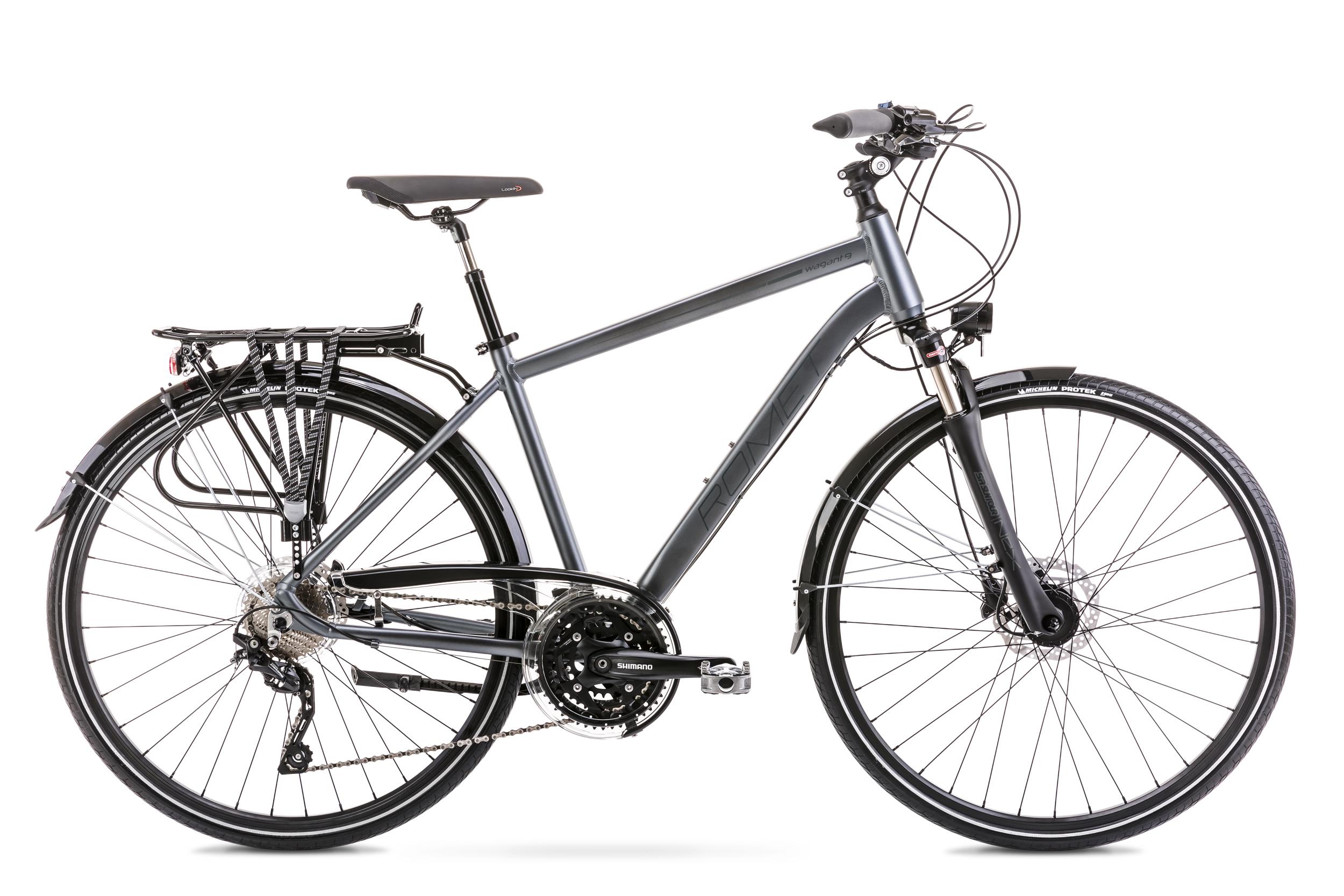 Bicicleta de trekking/oras pentru barbati Romet Wagant 9 Gri 2020 imagine