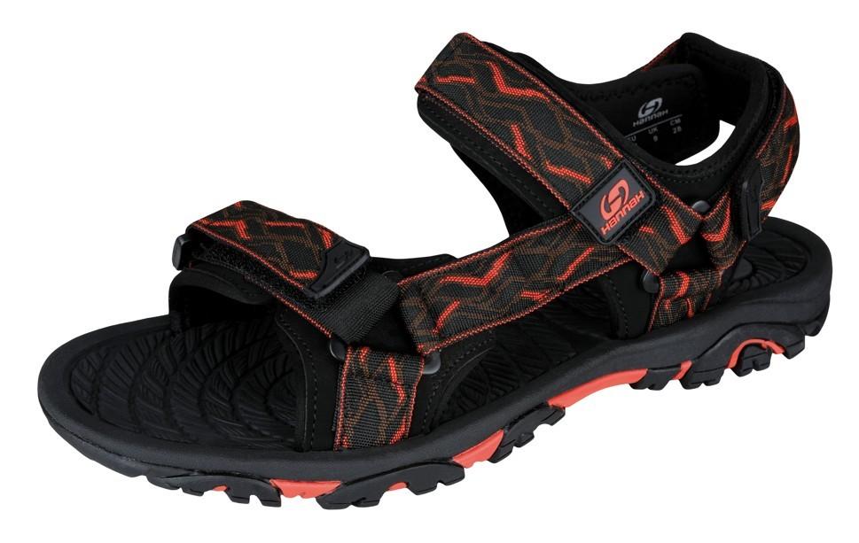 Sandale unisex Hannah Belt Negru/Portocaliu imagine