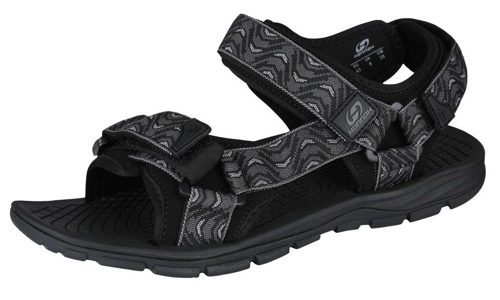 Sandale unisex Hannah Feet Negru/Gri imagine