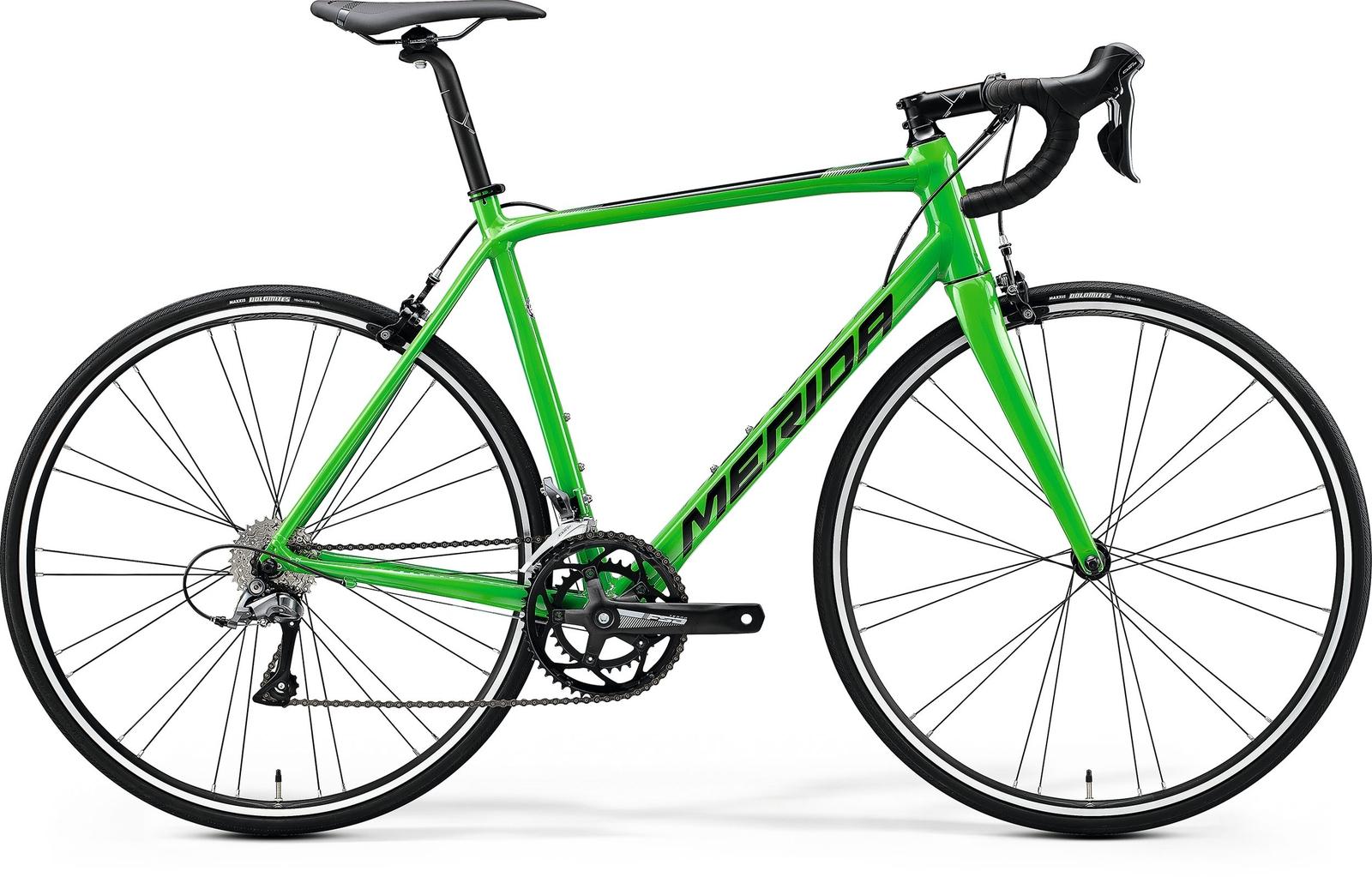 Bicicleta de sosea Merida Scultura 100 Verde/Negru 2020 imagine