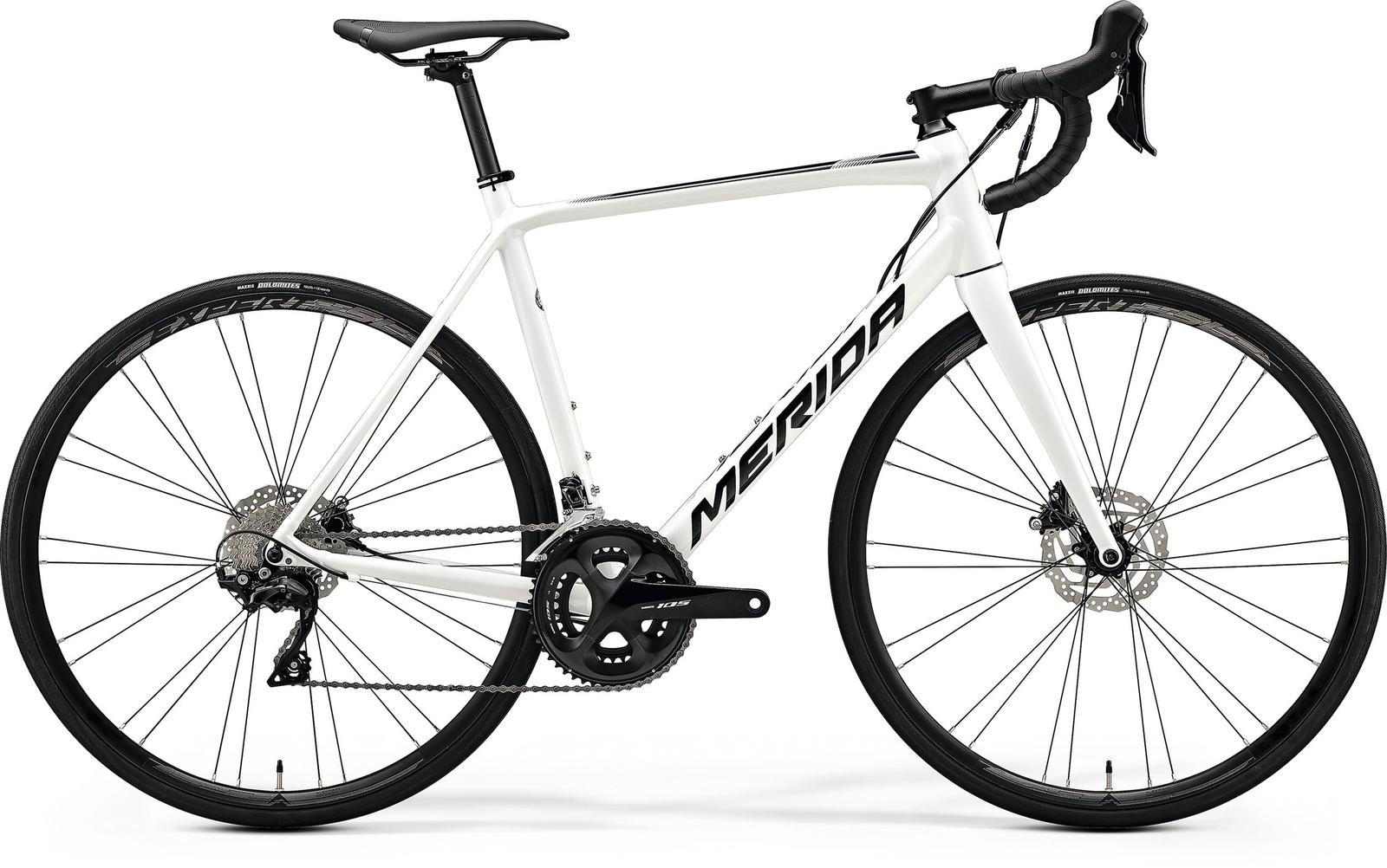 Bicicleta de sosea Merida Scultura Disc 400 Alb/Negru 2020 imagine