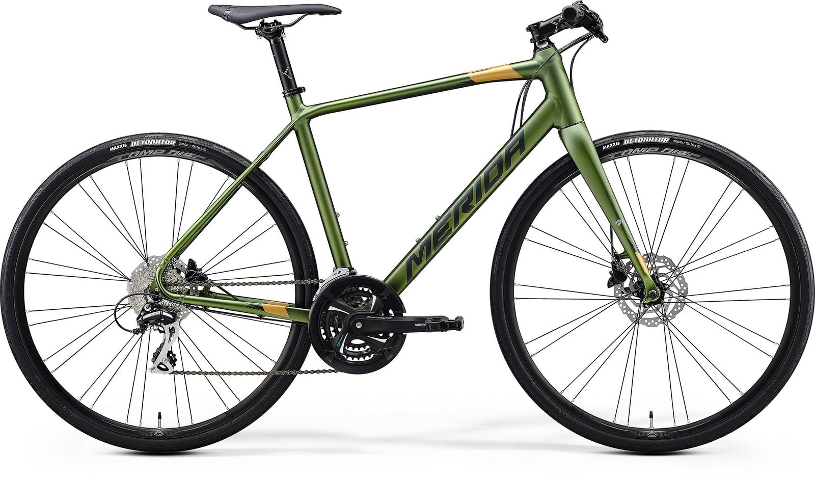 Bicicleta de sosea barbati Merida Speeder 100 Verde/Verde 2020 imagine