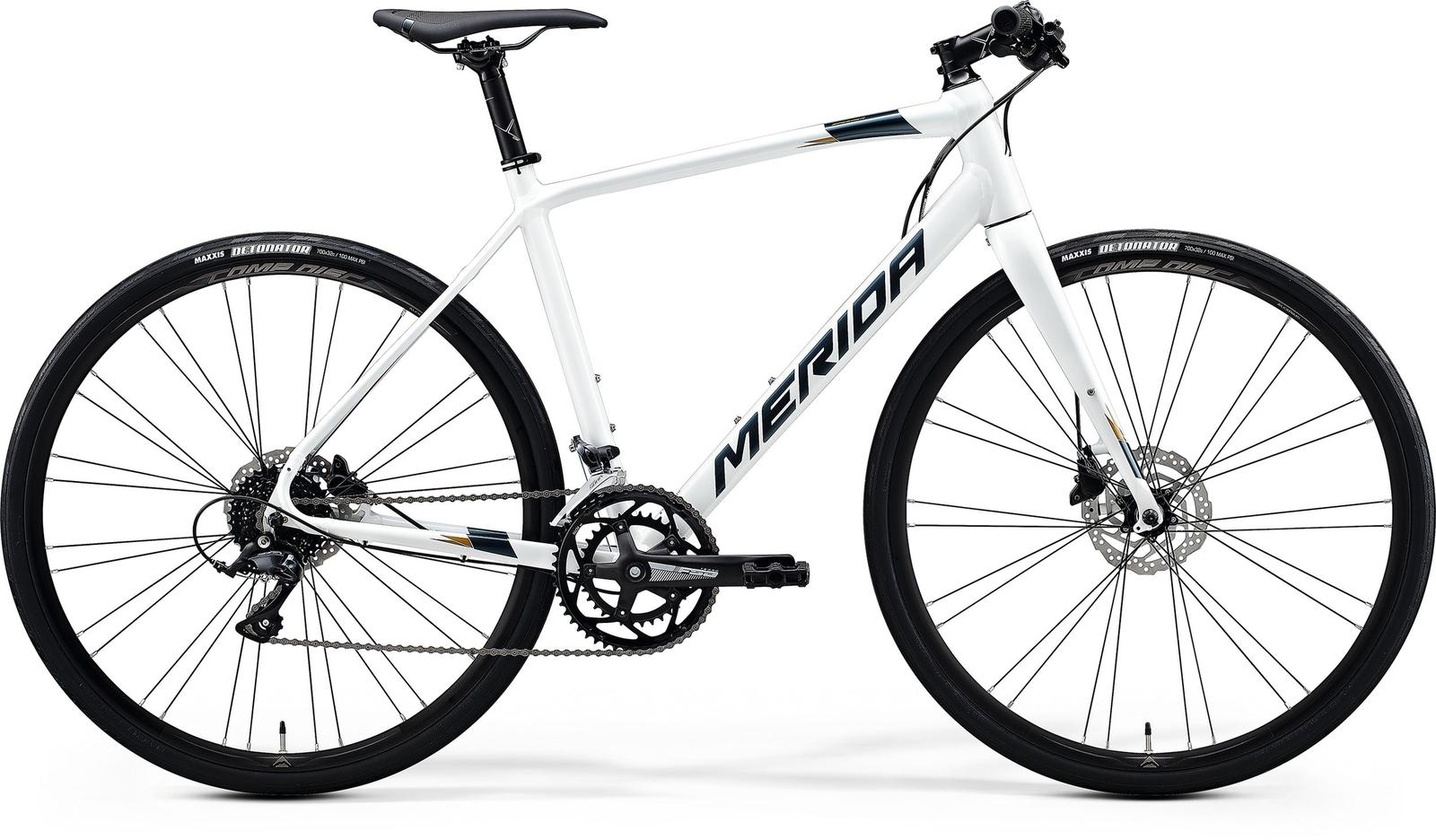 Bicicleta de sosea barbati Merida Speeder 200 Alb/Argintiu 2020 Merida