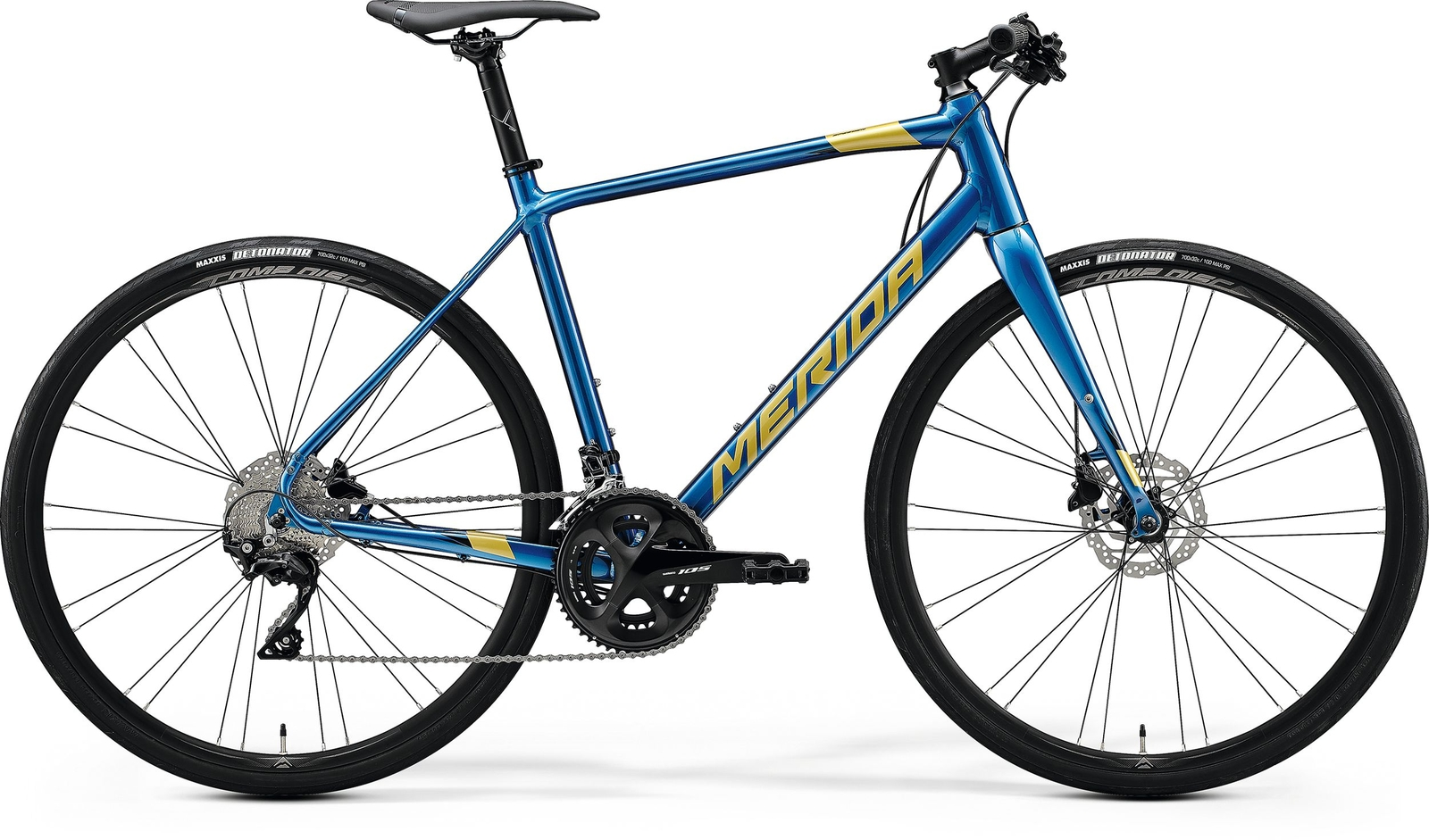 Bicicleta de sosea barbati Merida Speeder 400 Albastru/Auriu 2020 imagine
