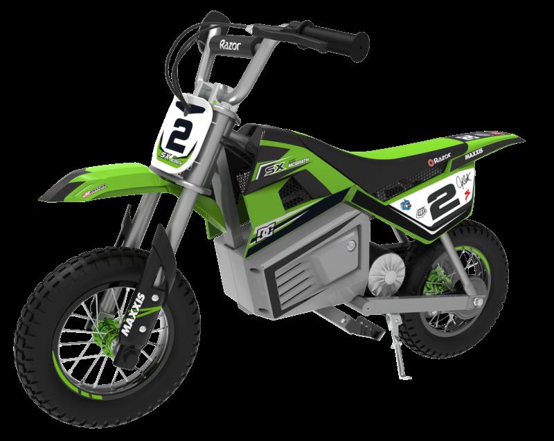 Motocicleta electrica pentru copii 13+ ani Razor SX350 Dirt Rocket McGrath Verde imagine