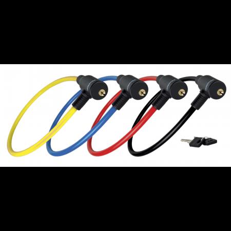 Antifurt Master Lock cablu cu cheie 650x8mm - diverse culori