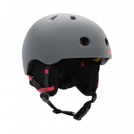 Casca de protectie multisport Pro-tec Classic Lite MIPS Snow Gri inchis/Rosu